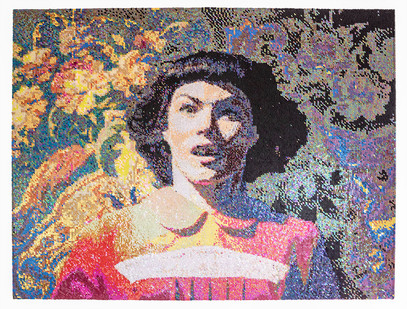 Frances Goodman | Startled | 2019 | Hand-Stitched Sequins on Canvas | 102 x 77 cm