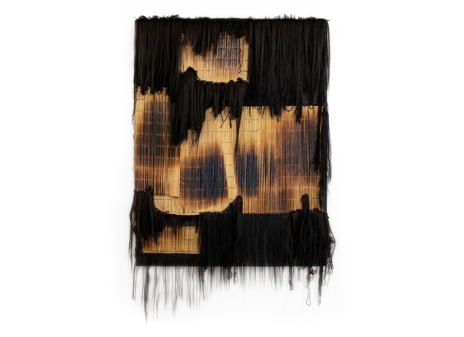 Simphiwe Buthelezi | Cries of Heresy | 2020 | Icansi, Artificial Hair and Wool on Canvas | 150 x 115 cm