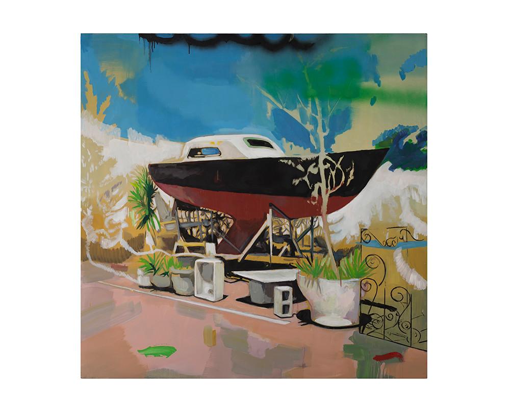 Kate Gottgens   Dead Man's Float   2017   Oil on Canvas   150 x 150 cm