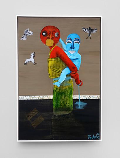 Teresa Kutala Firmino   Mother and Moon   2021   Mixed Media   76.6 x 50.5 cm
