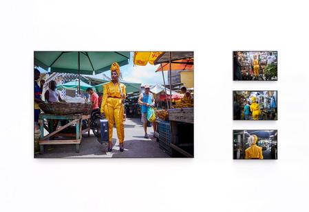 Lhola Amira | Kancane kancane, nyathela / pouco a pouco, ande | 2019 | Epson Hot Press Natural Giclée Mounted Diasec | 110 x 165 cm with Variable Narrative | Edition of 3 + 2 AP