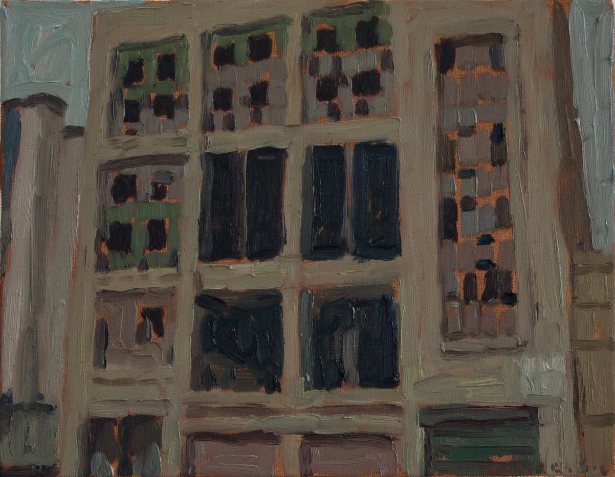 Anton Karstel | Property (Johannesburg Central) | 2014 | Oil on Canvas | 28 x 36 cm