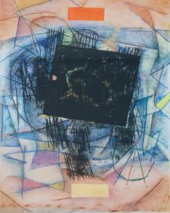 Louis Maqhubela | Barricade | 2012 | Mixed Media on Paper | 44 x 30 cm