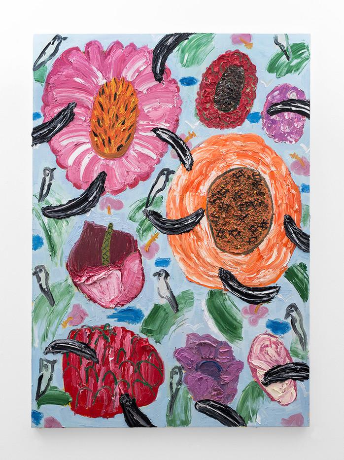 Georgina Gratrix | Fruit Loops | 2018 | Oil on Canvas | 170 x 120 cm