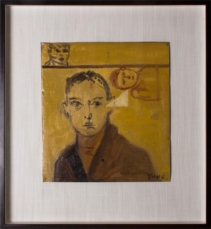Simon Stone | The Brown Coat | 2014 | Oil on Cardboard | 31 x 28 cm