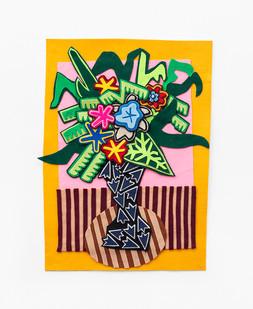 Jody Paulsen | Yellow | 2020 | Felt Collage | 61 x 44 cm