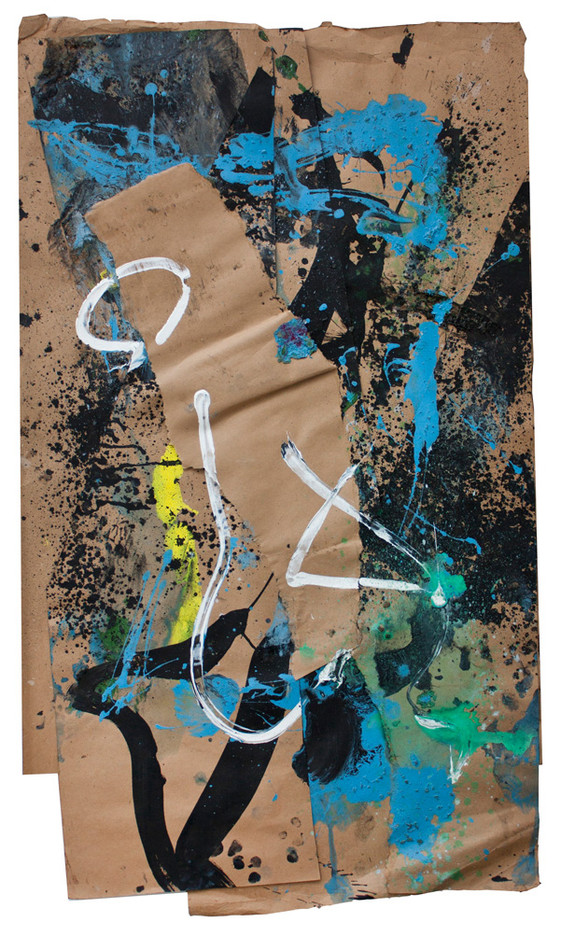 Bill Ainslie | Untitled | n.d. | Oil and Gouache on Paper | 103 x 60 cm