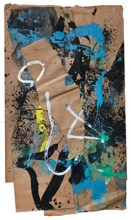 Bill Ainslie   Untitled   n.d.   Oil and Gouache on Paper   103 x 60 cm