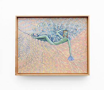 Marlene Steyn   her eyes on horizon   2020   Acrylic on Canvas Board   40 x 50 cm
