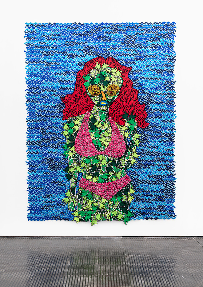 Jody Paulsen | Tasty | 2020 | Felt Collage | 132.5 x 117 cm