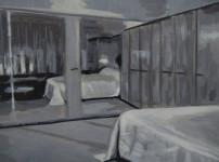 Kate Gottgens | Petty Crime IX | 2012 | Oil on Canvas | 30.5 x 40.5 cm