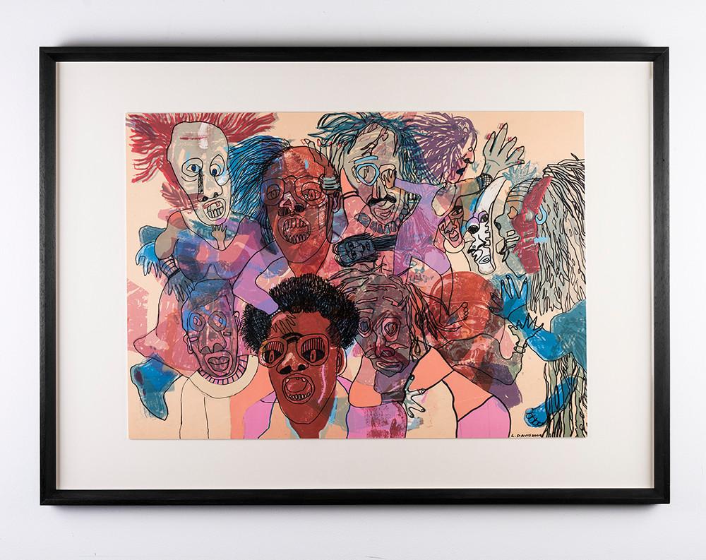 Lionel Davis | Masquerade 4 | 2009 | Mixed Media on Paper | 69.5 x 88.5 cm