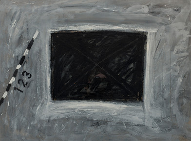 Kevin Atkinson | Untitled (5) | 1977 | Oil on Card | 76.5 x 102 cm