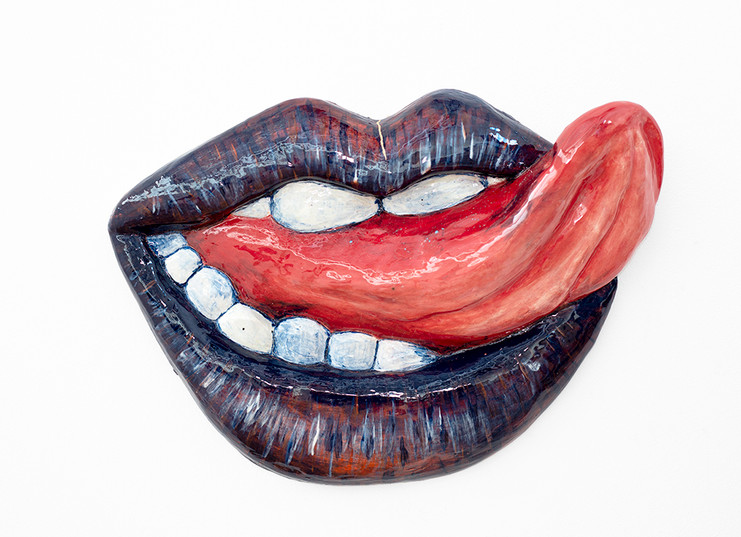 Frances Goodman | Red Tongue | 2019 | Glazed Ceramic | 50 x 37 x 8 cm
