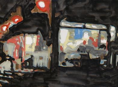 Albert Samson   Sarmeola   2017   Enamel on Canvas   30 x 40 cm