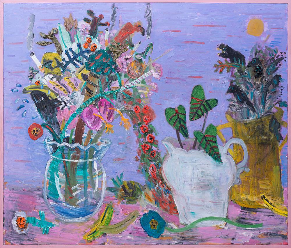 Georgina Gratrix | Evening Assemblage | 2017 | Oil on Canvas | 170 x 200 cm