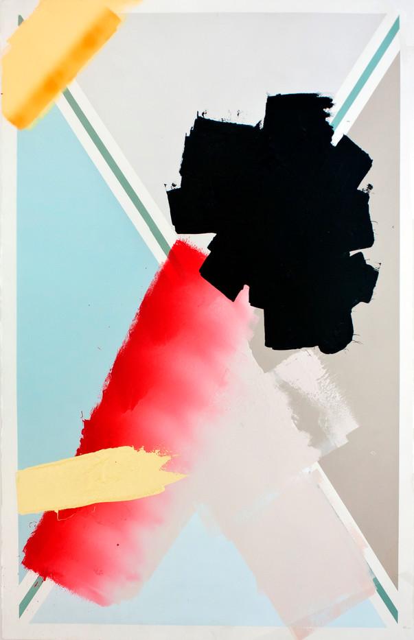 Jaco van Schalkwyk | 17. (Monoculture) | 2013 | Lithographic Ink on Paper | 100 x 66 cm