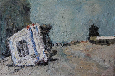 Anton Karstel | Protests in Wolseley | 2015 | Oil on Canvas | 40 x 60 cm