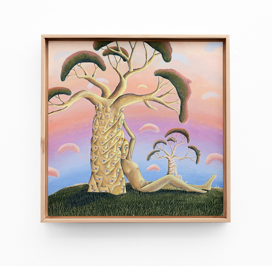 Marlene Steyn | the baobabe tree | 2020 | Acrylic on Canvas Board | 40 x 40 cm