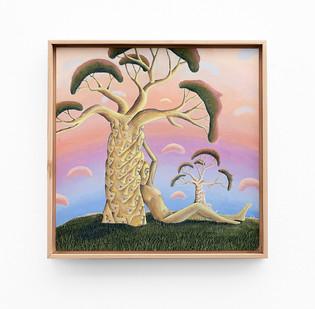 Marlene Steyn   the baobabe tree   2020   Acrylic on Canvas Board   40 x 40 cm