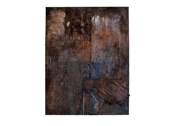 Simphiwe Buthelezi | Counting Days, Counting Names | 2020 | Earth and Oil Pastel on Canvas | 150 x 115 cm