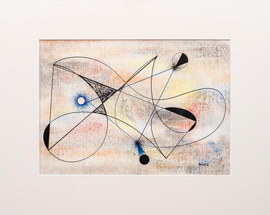 Albert Newall | Untitled - Study No. 15 | 1955 | Watercolour and Ink on Paper | 30.5 x 43 cm