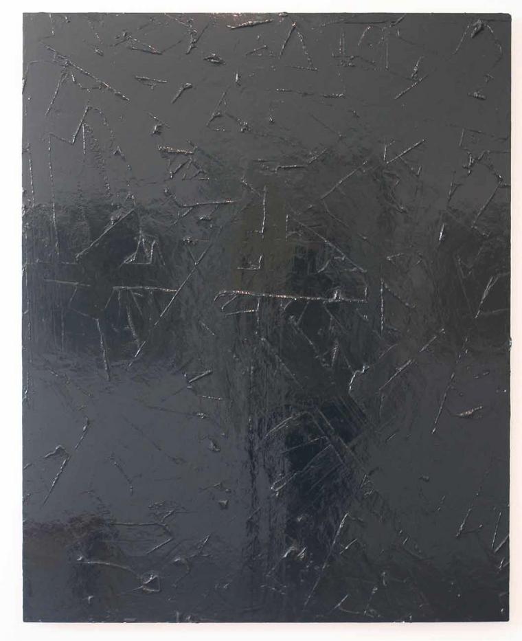 Peter Eastman | Untitled | 2013 | Enamel and Resin on Aluminium | 125 x 100 cm