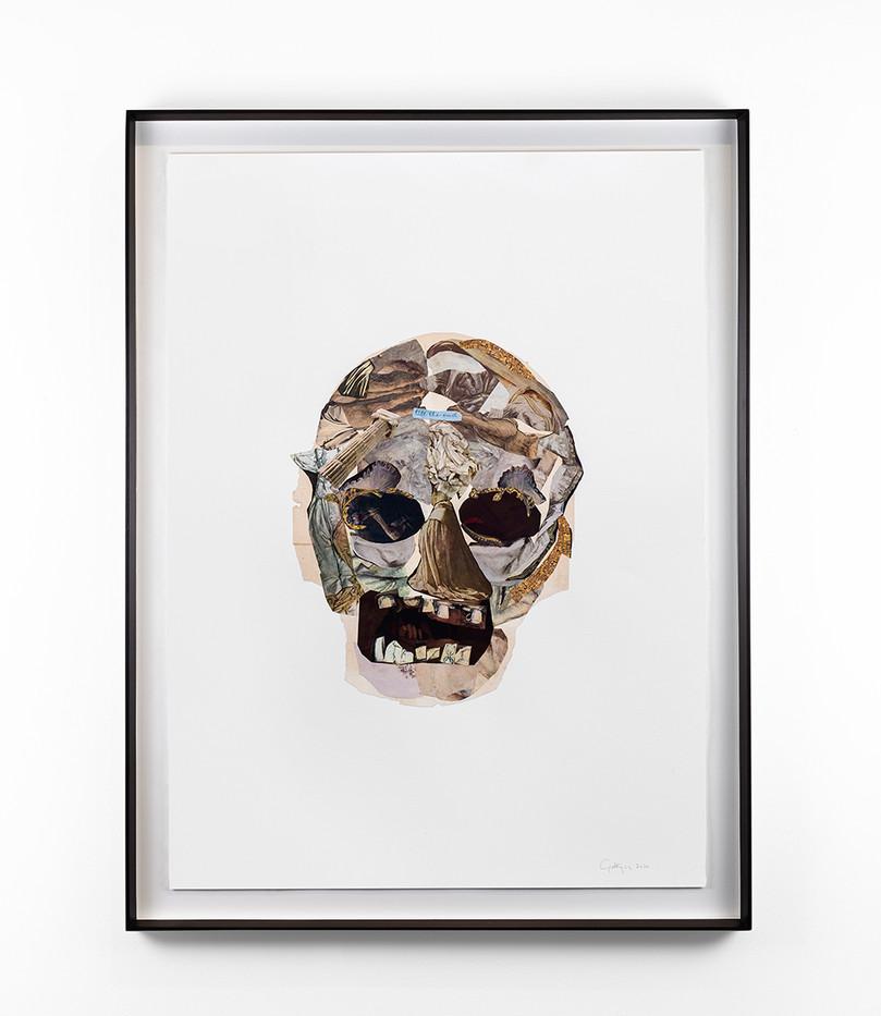 Kate Gottgens | Vanitas VI (Till the end) | 2020 | Collage on Paper | 105.5 x 75 cm