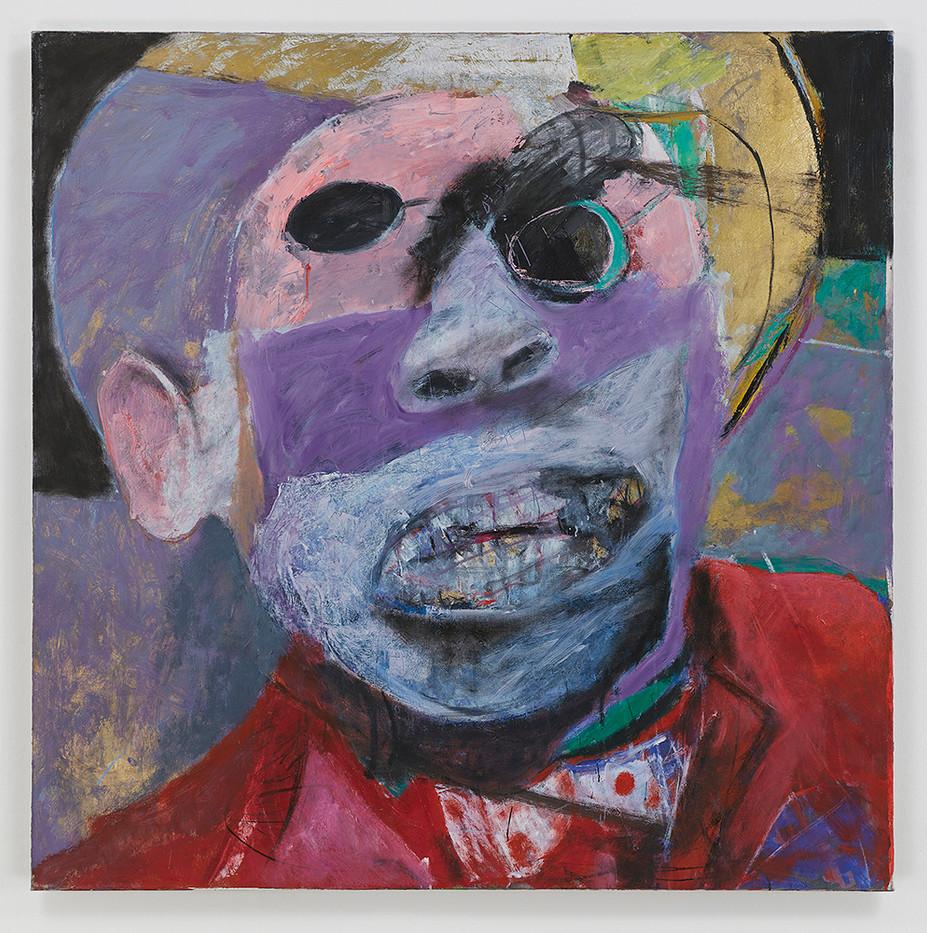 Albert Adams | Celebration Head | 2002 | Oil on Canvas | 153 x 153 cm
