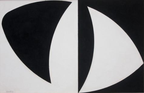 Albert Newall | Untitled | 1957 | Mixed Media on Board | 29 x 44 cm