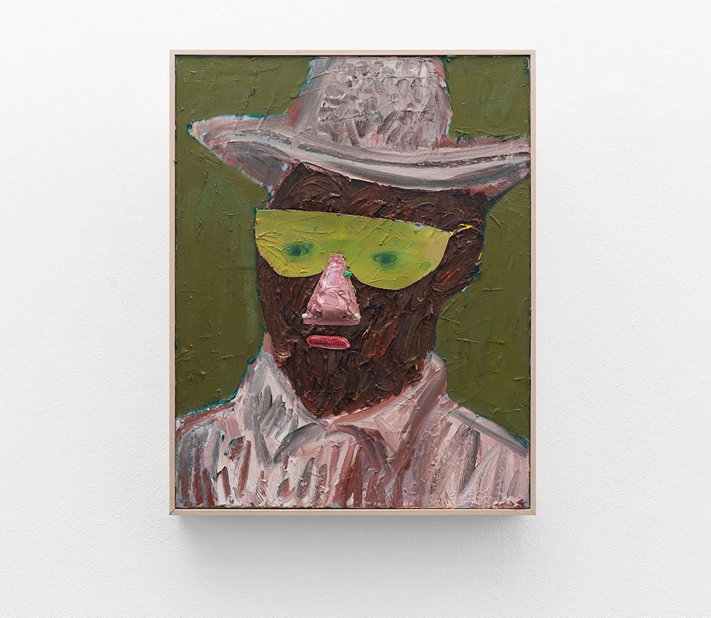 Georgina Gratrix | Man with Green Glasses | 2017 | Oil on Canvas | 70 x 55 cm