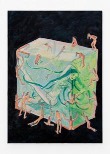 Marlene Steyn | a query um with ten tickles | 2019 | Oil on Board | 35 x 25 cm
