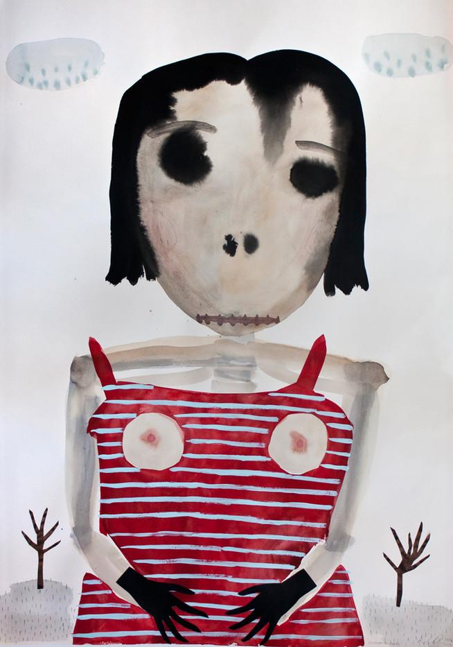 Karlien De Villiers | Verskroeide Aarde | 2014 | Watercolour and Cardboard on Paper | 100 x 70 cm