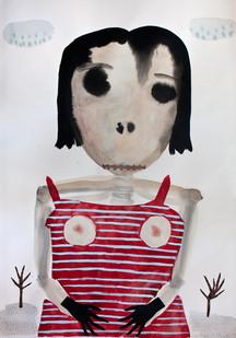Karlien De Villiers   Verskroeide Aarde   2014   Watercolour and Cardboard on Paper   100 x 70 cm