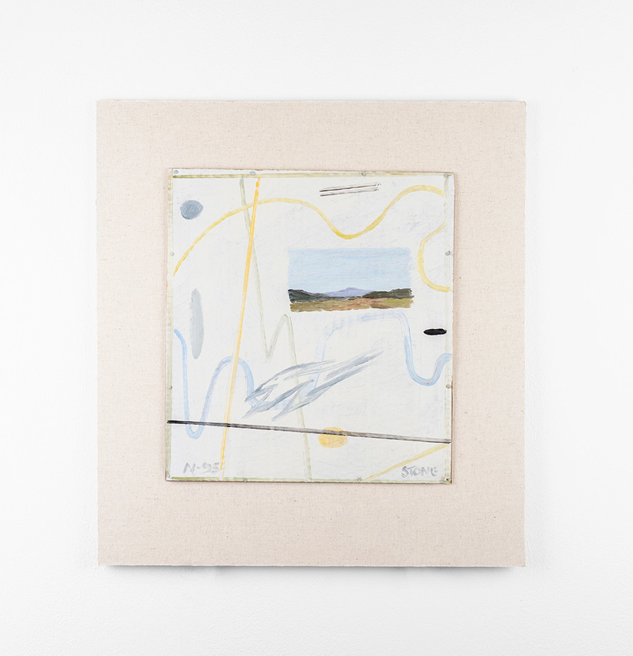 Simon Stone | Floating Landscape | 2020 | Oil on Cardboard | 31 x 28 cm