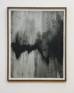 Alexandra Karakashian | Achromatic IV | 2017 | Oil on Sized Paper | 89.5 x 70 cm