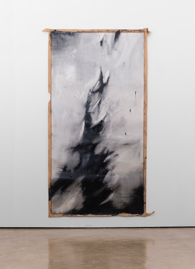 Alexandra Karakashian | Fall I | 2017 | Oil on Sized Paper | 270 x 140 cm