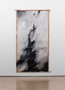 Alexandra Karakashian   Fall I   2017   Oil on Sized Paper   270 x 140 cm