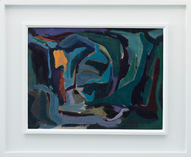 Kevin Atkinson | Abstraction | 1962 | Oil on Board | 40.5 x 60.5 cm