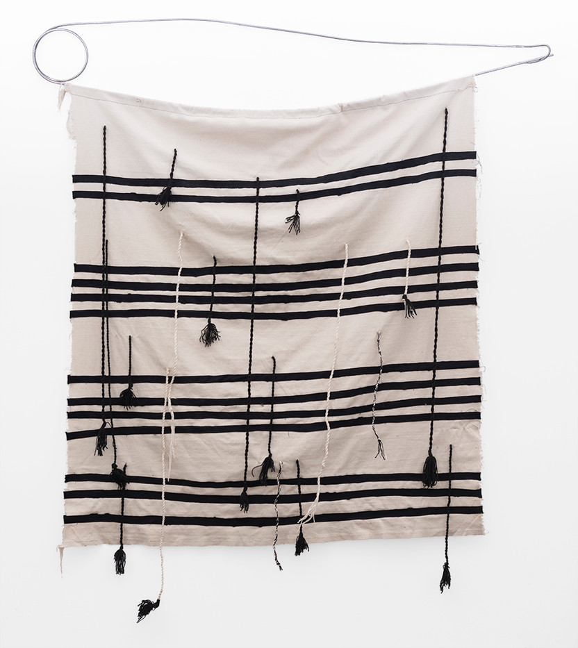 Asemahle Ntlonti | Nonkosiyethu | 2019 | Metal, Canvas and Wool | 179 x 149 cm
