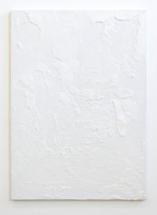 Alexandra Karakashian | White Out | 2016 | Salt on Canvas | 42 x 32 cm
