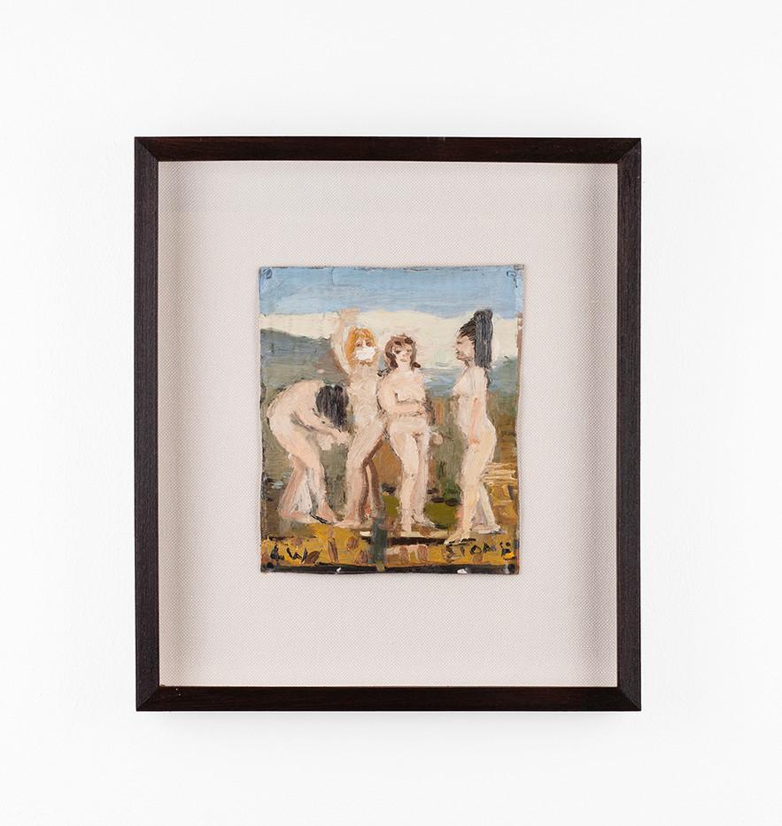 Simon Stone | 4 W | 2020 | Oil on Cardboard | 20 x 16.5 cm