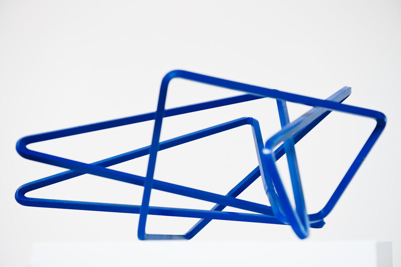 Ruann Coleman | Line #3 | 2014 | Bent Steel | 41 x 43 x 24 cm