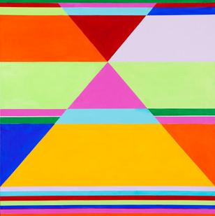 Hannatjie van der Wat | Honky Tonk | 2011 | Liquitex on Canvas | Modular Series of Four | 96 x 96 cm