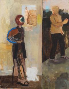 Simon Stone   The Garage   2012   Oil on Board   100 x 78 cm