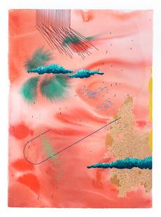 Mongezi Ncaphayi | Jaffa gate | 2019 | Indian Ink and Watercolour on Cotton Paper | 75.5 x 56 cm