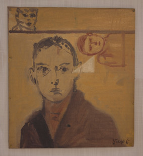 Simon Stone   The Brown Coat   2014   Oil on Cardboard   31 x 28 cm