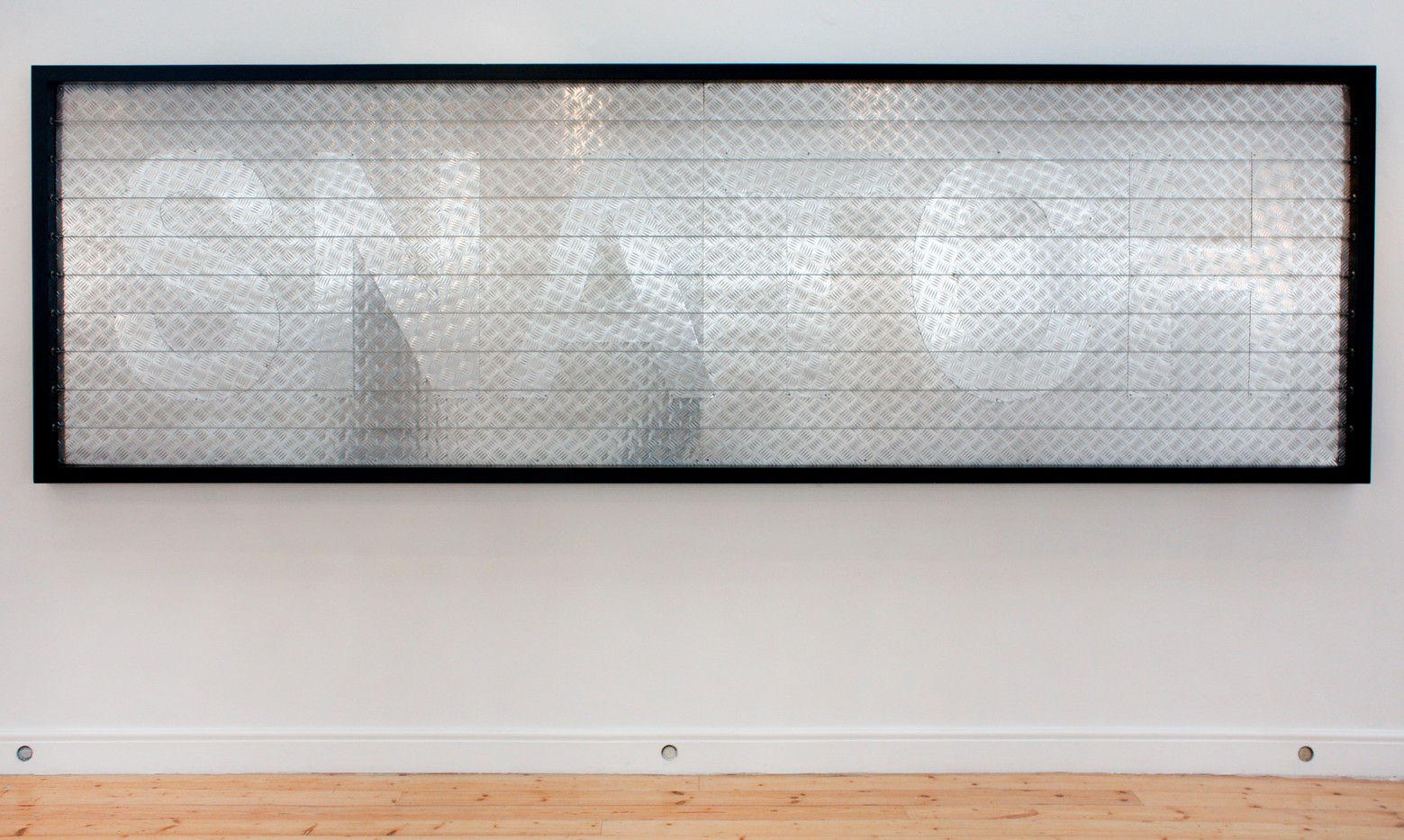 Willem Boshoff | Snatch | 2010 | Steel and Lights | 130 x 410 x 10 cm