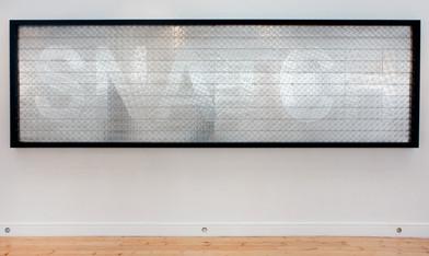 Willem Boshoff | Snatch | 2010 | Steel and Lights | 130 x 410 x 10 cm