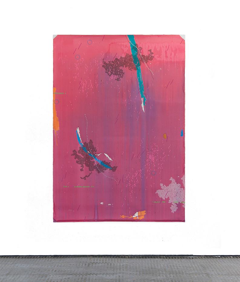 Mongezi Ncaphayi | Sweet Heaven | 2017 | Indian Ink and Mixed Media on Paper | 199 x 140 cm